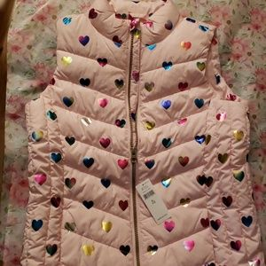 Gap vest XL girls heart BNWT